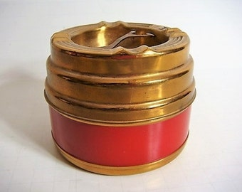 Brass Copper and Celluloid Cigarette Holder Ashtray Tobacciana