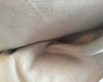 Warm KHAKI Tan Olive TEXTURE WOVEN Cotton Upholstery Fabric,16-60-09-0313