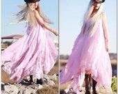 Custom Bohemian Maxi Dress Cotton Lace Boho Dress Halter Gypsy Dress Peasant Dress Festival Dress Long Dress Hippie Dress Free Spirit