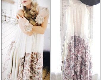 Stevie Nicks style gypsy maxi dress, Bohemian gypsy patchwork paisly boho dress, Junk Gypsy soul long flowing dresses, True rebel clothing