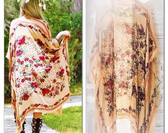 OS Boheme Stevie Nicks Style Kimono, Gypsy soul scarf Kimono, Boho kimono, Spell N Gypsy Bohemian Style, Boho Festival, True Rebel Clothing