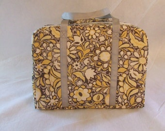Carrying Bag for the Sizzix Big Shot Machine/ Grey, yellow Flowers / Carrying Case / Die Cut Machine Carrying Case / READY TO SHIP!