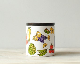 Vintage Tin, Vintage Canister, Mid Century Ransburg Canister