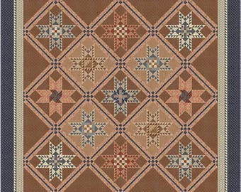 "Logan's Crossroad Quilt Kit 94"" x 94"" with Moda Reflections Fabric by Jo Morton KIT46230"