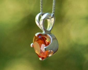 Autumn - Citrine gemstone pendant, November birthstone,earth mined gemstone, pendant, necklace, for her, fashion, gift idea, teens, women