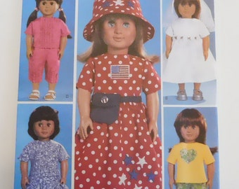 18 inch doll clothes pattern Butterick 3875 fits American Girl doll