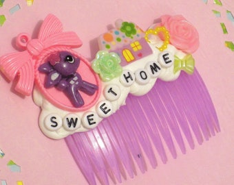 Home Sweet Home Deer Hair Comb, Fawn Hair Clip, Kawaii Hair Accessory, Super Cute Deer Hair Clip, Decoden, Decoden Hair Comb, Harajuku
