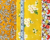 1930's Reproduction Windham Feedsack yellow cotton quilt fabric bundle of 4 fat quarters each 50cm x 55m