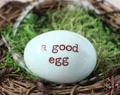 1 Personalized bird egg with custom names, robin eggs birds nest, name eggs mom nest, family nest eggs
