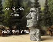 RESERVED for Tracey - Miniature Moai Statue - Easter Island- Rapa Nui Monoliths - Single Handmade Miniature Moai Icon by Bewilder and Pine