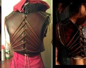 Irisa's leather under-bust harness and throwing knives listing for Lopti