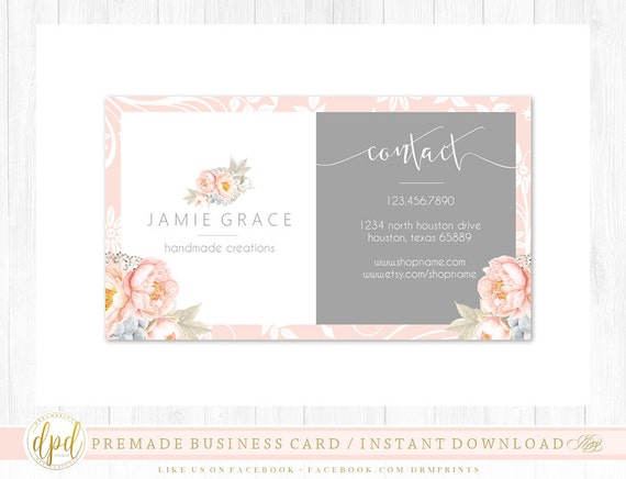 Custom Premade Blank DIY Single Sided Business Card | Business Template | Business Branding | Business Graphics | INSTANT DOWNLOAD-ST923
