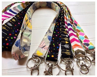 Lanyard, Fabric Lanyard, ID Badge Holder, Key Holder - Choose your design [40-44]