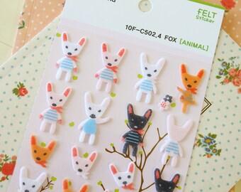 Funny Stickerworld FOX Felt Stickers