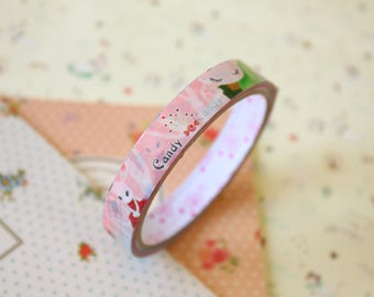 Candy Rabbit colorful cartoon deco tape