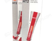 2 ORIGINAL Gutermann Creativ HT2 Textile Glue 30g: adhesive for metal purse frames, fabric, leather, DIY crafts, jewelry, wood, and handbags