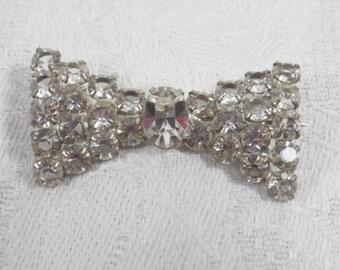 Vintage Rhinestone Bow or Bow Tie Brooch