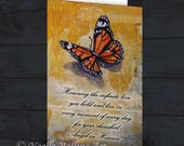 card after child has passed for Mothers day deceased child birthday Fathers day without son daughter remembrance after baby passed butterfly