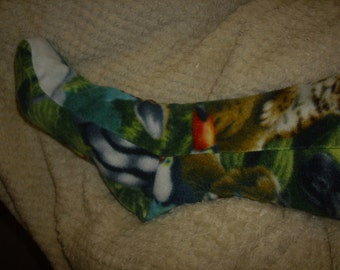 fleece socks warm winter fleece snow socks NEW ZOO print one size