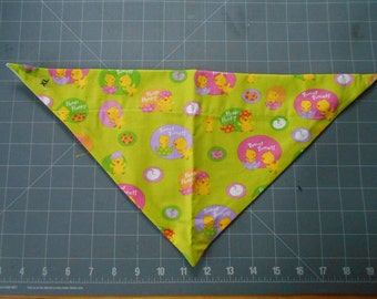 Easter Dog Bandana, Neckerchief, Chicks, Eggs, Spring, peep, tweet