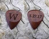 Custom Order - Handmade Ipe - (AKA) Brazilian Walnut) Laser Engraved Premium Wood Guitar Pick