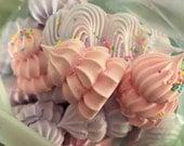 Flavored Meringue Kisses- Meringue Cookies- Birthday Party Favor- Baby Shower Favors- Bridal Shower