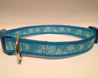 EXTRA LARGE Frozen blizzard holiday dog collar
