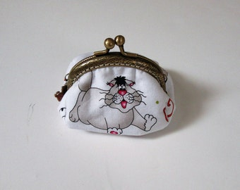 Cat Coin Purse, Bags and Purses, Coin Purse, Cat Change Purse, Change Purse, Pouches & Coin Purse, Accessories, Women, Small Coin Purse