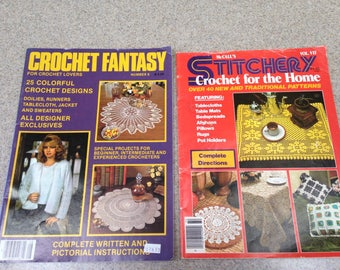 Vintage Crochet Magazines - 1983 Crochet Fantasy Number 8 - 1977 McCalls Stitchery Crochet for the Home Vol.VII