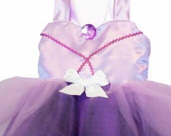 Sofia Princess Dress: purple & lavender, the first birthday dress, princess dinner, easy on and off, halloween costume, birthday, adjustable