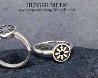 Sterling Chaos Signet Ring