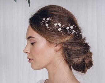 Wedding hair pins, flower hairpins, bridal hairpins, floral hairpins, hairpins set, flower hairpins set, rose gold, silver or gold - Coralie