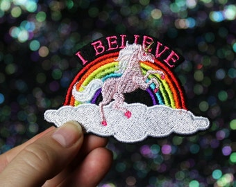 I Believe Unicorn Brooch, Fantasy Pin, Badge