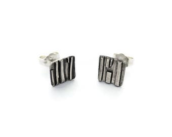 Square silver stud earrings, small stud earrings, silver earrings, stud earrings, silver studs, tiny stud earrings, earrings, gift for her