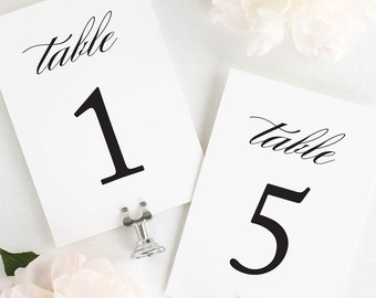 Classic Elegance Table Numbers - 5x7""