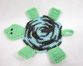 Crochet Pattern for Turtle Pot Holder, Crochet Tortoise Hot Pad Trivet, PATTERN ONLY