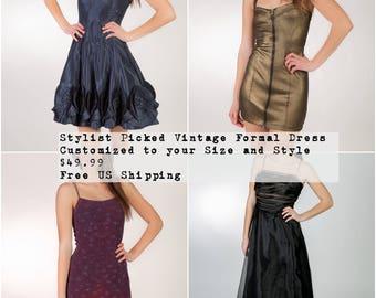 Custom Vintage Dress - Wedding Guest Dress - Plus Maxi Dress - Vintage Cocktail Dress - Vintage Party Dress Women - Plus Size Vintage