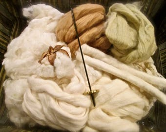All About Cotton Spinning Kit Includes Tahkli Spindle Learn To Spin Beautiful Soft Cotton SUPER FAST Shipping!