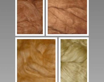 RARE & GORGEOUS Colors Organic Colorgrown (Undyed) Cotton Sliver Exquisite Spinning Fiber