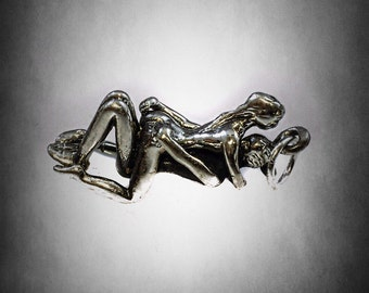 Kama Sutra erotic hot couple sexy love Pendant sterling silver  925