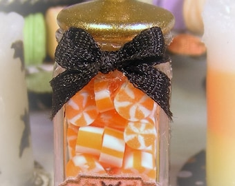 12th Scale Dolls House Spooky Jar of Halloween Candies