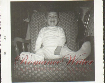 Vintage Photo of a Cute Little Boy with a Big Smile