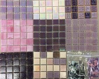 Purple/Pink Mix Tiles-1sqft//purple tile// neutral mosaic tiles//pink tiles