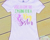 Tinkerbell I'm Going to be a Big Sister - Bodysuit or Tshirt - Girl Shirt - New Baby - Pregnancy Announcement