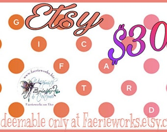 Gift Card Gift Certificate E-Gift Card Downloadable Printable Instant Gift