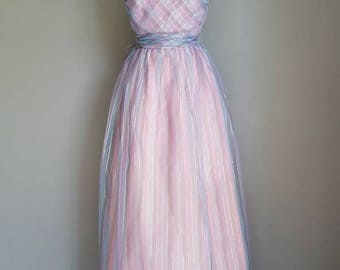 Vintage LAVENDER Spring Prom Formal Dress (s)