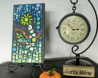 Mosaic art - wall art - mosaic - mixed media art - mixed media wall art - mosaic wall art - glass art gift - colorful gift - glass art gift