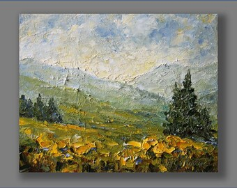 Oil Landscape Painting, Oil Painting,  Modern Painting, Contemporary Painting, Palette Knife Painting Oil Artwork Landscape