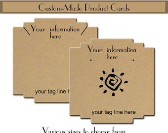 Custom Earring Cards - Art Deco - Tags - Necklace Cards Custom Jewelry Cards - Blank #0310