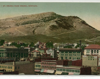 Mt Helena From Helena Montana 1910c postcard